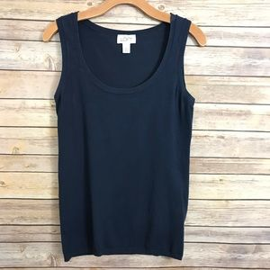 Ann Taylor LOFT tank top shirt navy blue XS small